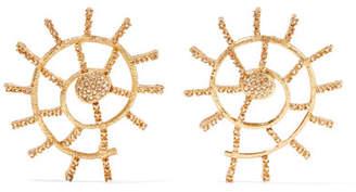 Oscar de la Renta Gold-plated Crystal Earrings