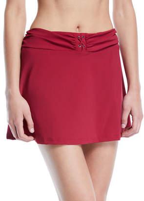 Gottex Moto Shirred Swim Skirt