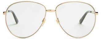 Gucci Aviator Metal Sunglasses - Mens - Gold