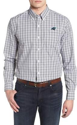 Cutter & Buck Carolina Panthers - Gilman Regular Fit Plaid Sport Shirt