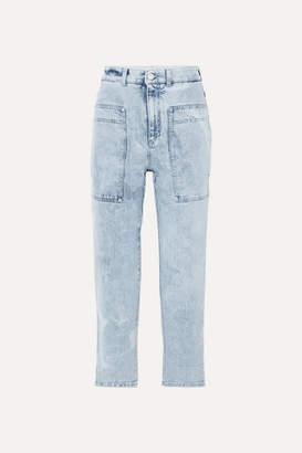 Stella McCartney + Net Sustain Cropped High-rise Straight-leg Jeans - Blue