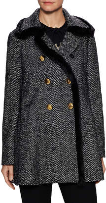 Dolce & Gabbana Double Breasted Tweed Coat