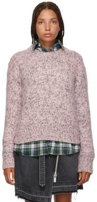 McQ Pink Wool Crewneck Sweater