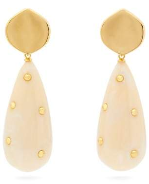 Lizzie Fortunato Prism Gold Plated Drop Earrings - Womens - Cream