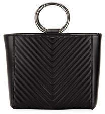 Jagger Kc Mara Mini V-Quilt Leather Shopper Tote Bag
