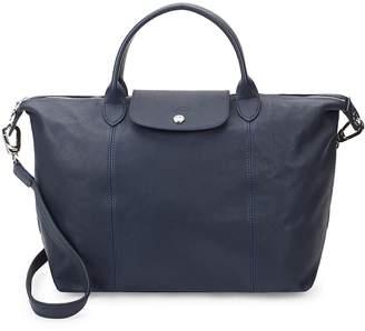 Longchamp Women's Le Pliage Cuir Leather Medium Top Handle Bag