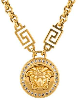 Versace Crystal Icon Medusa Necklace