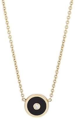 RETROUVAI Women's Mini Compass Pendant Necklace - Black