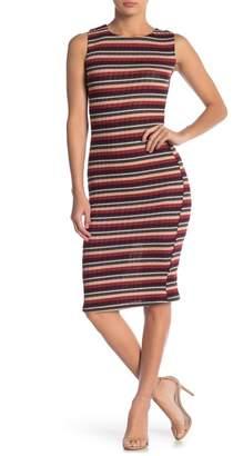 Velvet Torch Racerback Striped Midi Dress