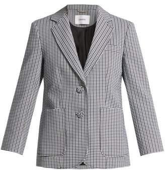 Erdem Alvine Houndstooth Cotton Blend Blazer - Womens - Black Multi