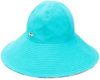 Emilio Pucci Turquoise Wide Brim Hat