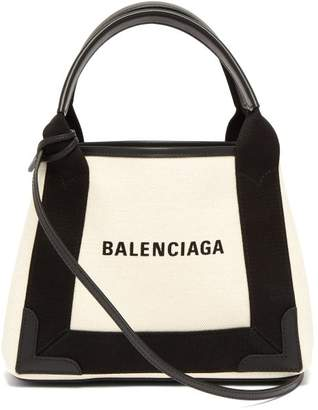 Balenciaga Cabas Mini Tote Bag - Womens - Cream Multi