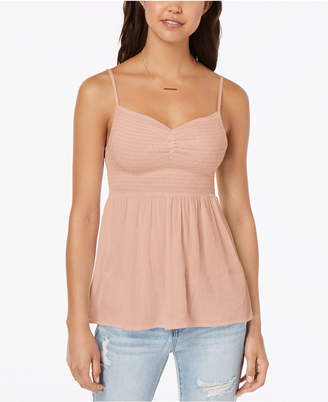 Almost Famous Juniors' Smocked Cami Top
