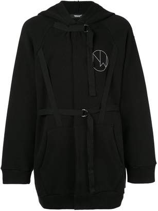 Undercover straped details hoodie