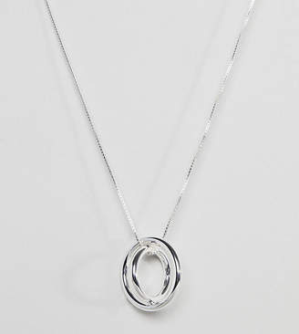 Pilgrim silver plated multi loop necklace