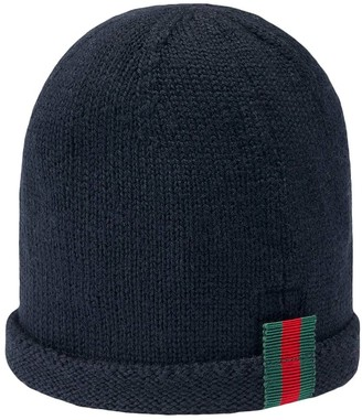 Gucci Kids Baby knitted hat with Web