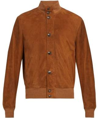 Privee Salle Salle Eero Suede Bomber Jacket - Mens - Brown