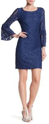 Nine West Bell Sleeve Lace Shift Dress