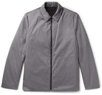 Theory Odin Reversible Puppytooth Shell Shirt Jacket - Gray