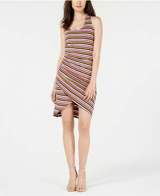Bar III Striped Asymmetrical Dress