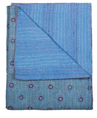 """Kinetic Vintage Cotton Kantha Throw - 50\""""x70\"""""""