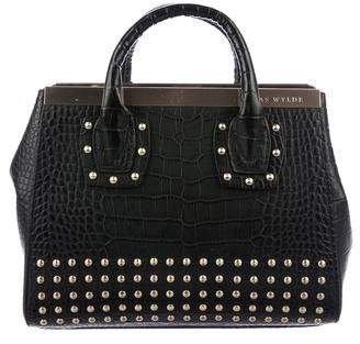 Pre Owned At Therealreal Thomas Wylde Embossed Leather Handle Bag