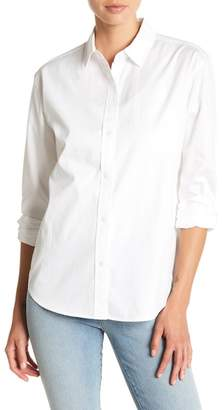 J Brand Briley Long Sleeve Front Button Solid Blouse