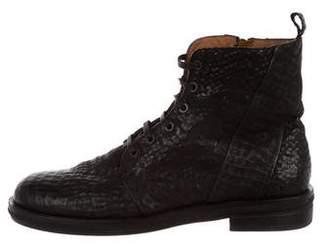Elia Maurizi Embossed Ankle Boots