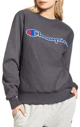 Women's Champion Crewneck Sweatshirt $45 thestylecure.com