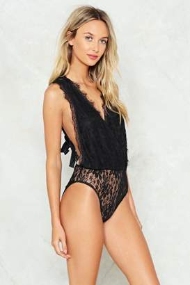 Nasty Gal See My Side Lace Bodysuit