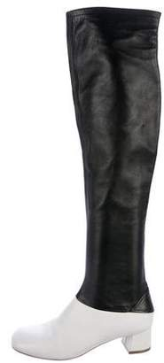 Celine Bicolor Over-the-Knee Boots