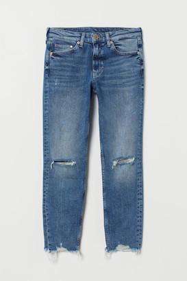 H&M Girlfriend Regular Ankle Jeans - Blue