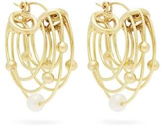 Ellery Classical Scaffolding Hoop Earrings - Womens - Gold