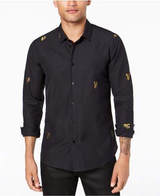 Versace Men's Gold Logo Shirt
