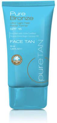 NEW Pure Tan Pure Bronze Ultra Light 50ml Feel Face Tan SPF 15