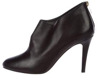 Jimmy Choo Leather Round-Toe Booties