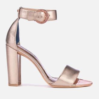 04550dd6a08bb at Allsole. Ted Baker Women s Secoal Block Heeled Sandals - Rose Gold