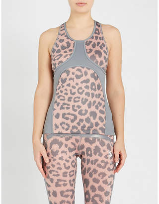 579398f62c097c adidas by Stella McCartney Believe This Comfort leopard-print  stretch-jersey top