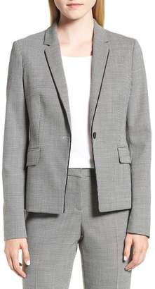 BOSS Jorita Geometric Wool Blend Suit Jacket