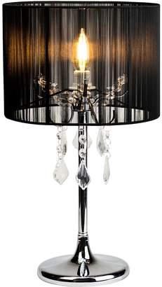 Lexi Lighting Paris Crystal Table Lamp, Black