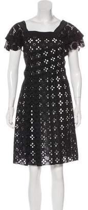 Miu Miu Knee-length Eyelet Dress