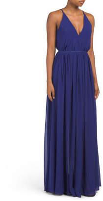 Made In Usa Lana V Neck Maxi Dress
