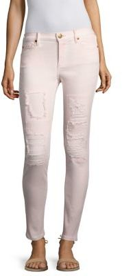 True Religion Halle Distressed Super Skinny Jeans $229 thestylecure.com