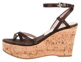 Prada Cork Wedge Sandals
