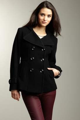 Kenneth Cole New York Kenneth Cole Outerwear Double Breasted Peacoat with Built in Hood