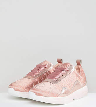 Free People Stardust Sateen Pink Trainers