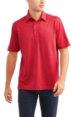 George Big Men's Short Sleeve Flex Poly Polo, 95% Poly / 5% Spandex