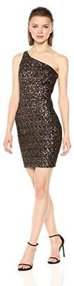 Dress the Population Women's Cher One Shoulder Sequin Midi