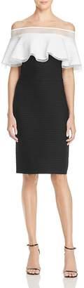 Tadashi Shoji Pintucked Off-the-Shoulder Dress $308 thestylecure.com