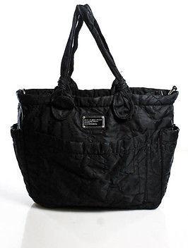 Marc By Marc JacobsMarc By Marc Jacobs Black Monogram Nylon Tote Handbag